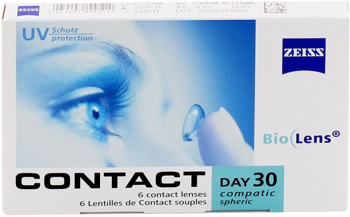 Линзы Contact Day 30 Compatic Toric 6 шт.