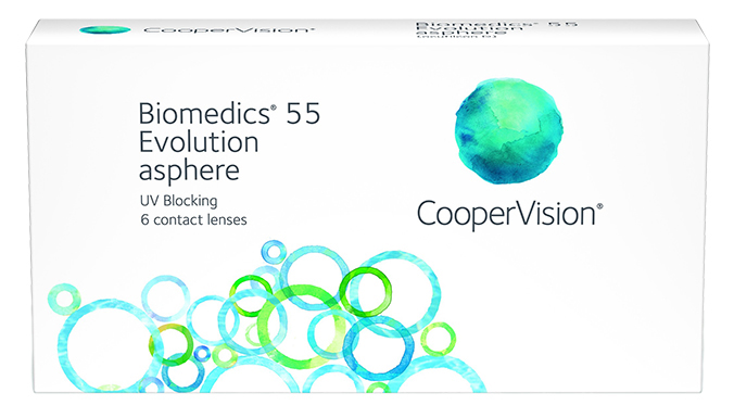 Линзы Biomedics 55 Evolution UV 6 шт.