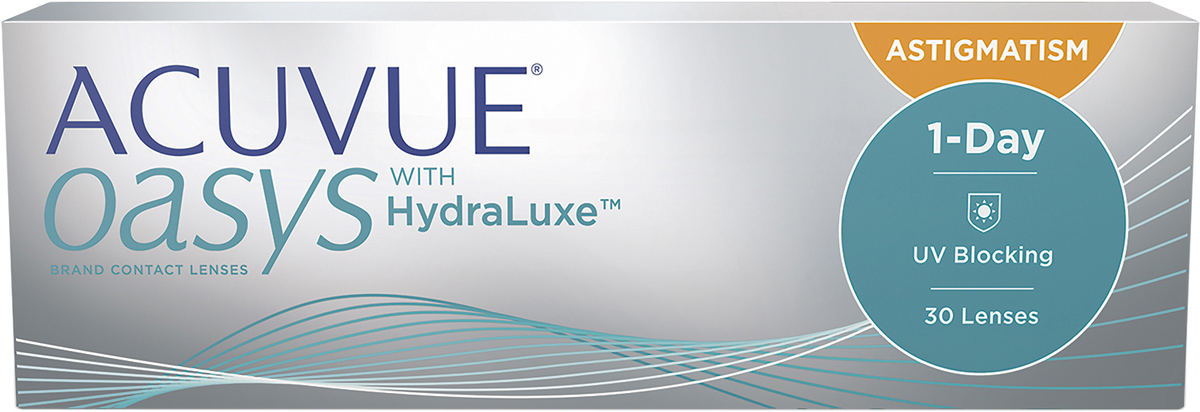 Линзы ACUVUE OASYS 1-Day with HydraLuxe™ for Astigmatism 30 линз